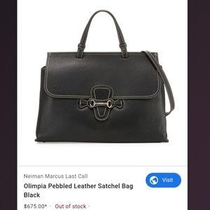 Authentic Valentino Olimpia pebble leather satchel